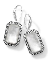 Ippolita | Metallic Sterling Silver Stella White Earrings With Diamonds | Lyst