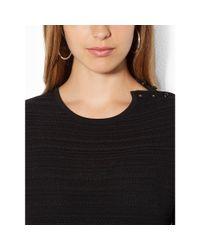 Ralph Lauren - Black Pointelle-knit Sweater - Lyst
