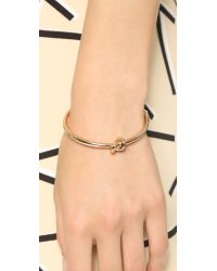 Kate Spade | Pink Sailor's Knot Bangle Bracelet | Lyst