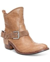 Donald J Pliner - Brown Donald J Pliner Wade Ankle Booties - Lyst