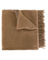 Golden Goose Deluxe Brand - Brown Fringed Scarf - Lyst