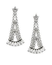 DANNIJO - Metallic Ada Crystal Chandelier Earrings - Lyst