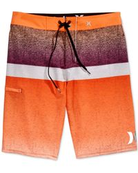 Hurley - Orange Phantom Blocked Flight Board Shorts for Men - Lyst