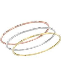 Swarovski | Multicolor Cubist Bangle Set | Lyst