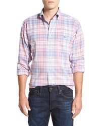 Vineyard Vines - Blue 'george Hill Plaid - Tucker' Classic Fit Sport Shirt for Men - Lyst