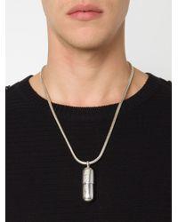 KTZ | Metallic Pill Pendant Necklace for Men | Lyst