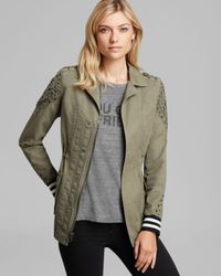 Pam & Gela | Green Parka Cotton Canvas Embellished | Lyst