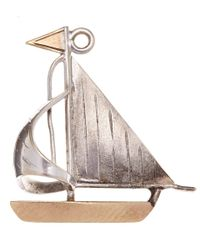 Annina Vogel | Metallic Vintage Gold Sailboat Charm | Lyst