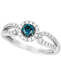Le Vian | Metallic White And Blue Diamond Ring (1/2 Ct. T.w.) In 14k White Gold | Lyst