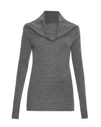 JOSEPH | Gray Cowl-neck Wool Sweater | Lyst