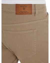 GANT   Brown Jason Comfort Desert Twill Jeans for Men   Lyst