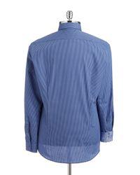 Strellson | Blue Checkered Sportshirt for Men | Lyst