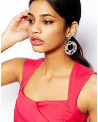 Lipsy - Metallic Deco Circle Drop Earrings - Lyst