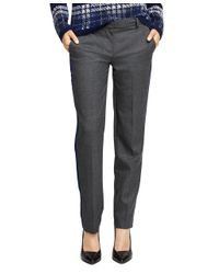 Brooks Brothers - Gray Wool Side Stripe Trousers - Lyst