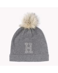 Tommy Hilfiger | Gray Wool Blend Sparkle Hat | Lyst