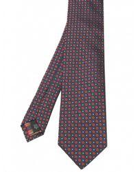 Jules B - Blue Multi Circle Print Silk Tie for Men - Lyst