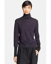 Rag & Bone - Gray 'Jessica' Wool Blend Turtleneck Sweater - Lyst