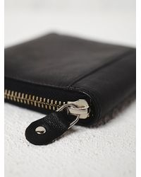 Free People - Black Womens Ashford Leather Wallet - Lyst