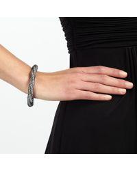 John Lewis | Black Mini Crystals Twisted Bracelet | Lyst