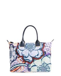 Ted Baker - Blue Large Floral Print Nylon Tote - Lyst
