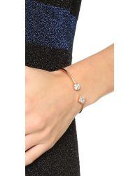 Michael Kors - Pink Park Avenue Flex Open Cuff Bracelet - Rose Gold/clear - Lyst
