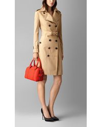 Burberry - Red The Small Alchester In Grainy Leather - Lyst