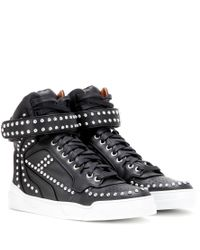 Givenchy | Black 'tyson' Hi-top Sneakers | Lyst