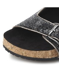 Steve Madden | Metallic Rivitt Sm Double Buckle Footbed | Lyst