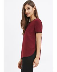 Forever 21 - Purple Sheer Crepe Top - Lyst