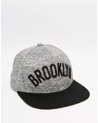 Adidas Originals - Gray Brooklyn Nets Snapback Cap for Men - Lyst