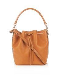 Saint Laurent | Brown Emmanuelle Medium Bucket Bag | Lyst