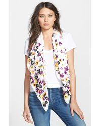 Diane von Furstenberg - Multicolor Silk Twill Square Scarf - Purple - Lyst