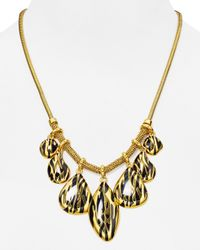 Diane von Furstenberg | Metallic Dew Drop Statement Necklace, 18"