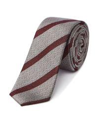 Kenneth Cole - Purple Estevan Stripe Silk Tie for Men - Lyst