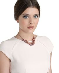 Ted Baker | Pink Bead Cluster Necklace | Lyst