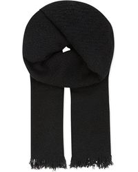 The Kooples | Black Echarpe Wool Scarf | Lyst