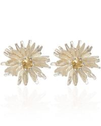 Alex Monroe | Metallic Silver Dandelion Stud Earrings | Lyst