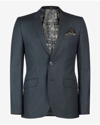 Ted Baker | Green Wool And Silk-blend Jacket for Men | Lyst