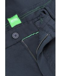 BOSS Green | Blue Regular-fit Casual Trousers 'lasman1-w' In A Cotton Blend for Men | Lyst