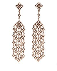 Dinny Hall - Pink Large Rose Gold Vermeil Almaz Multi Drop Earrings - Lyst