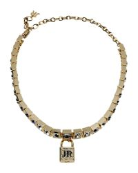 John Richmond - Metallic Necklace - Lyst