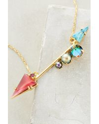 Elizabeth Cole - Metallic Bristol Arrow Necklace - Lyst