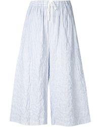 Baja East - Blue Striped Culottes - Lyst