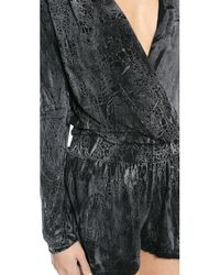 Young Fabulous & Broke - Howell Romper Black Crackle - Lyst