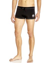 DIESEL - Black Aloha Drawstring Swim Trunks for Men - Lyst