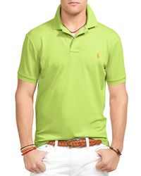 Ralph Lauren | Green Polo Performance Mesh Polo Shirt - Slim Fit for Men | Lyst