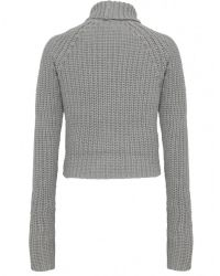 T By Alexander Wang - Gray Chunky Polo Neck Jumper - Lyst