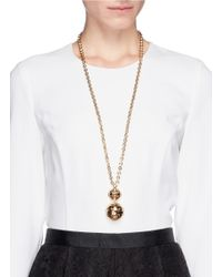 St. John | Metallic Disco Ball Pendant Necklace | Lyst