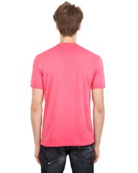 DSquared² - Pink Rebels Printed Surf Fit Cotton T-Shirt for Men - Lyst