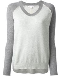 Duffy - Gray V-Neck Sweater - Lyst